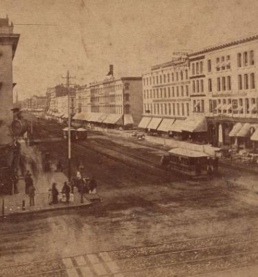 1860 Photograph of Downtown Detroit