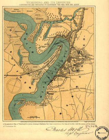 Vicksburg Historical Map