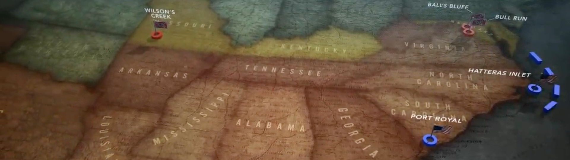 The Civil War Animated Map