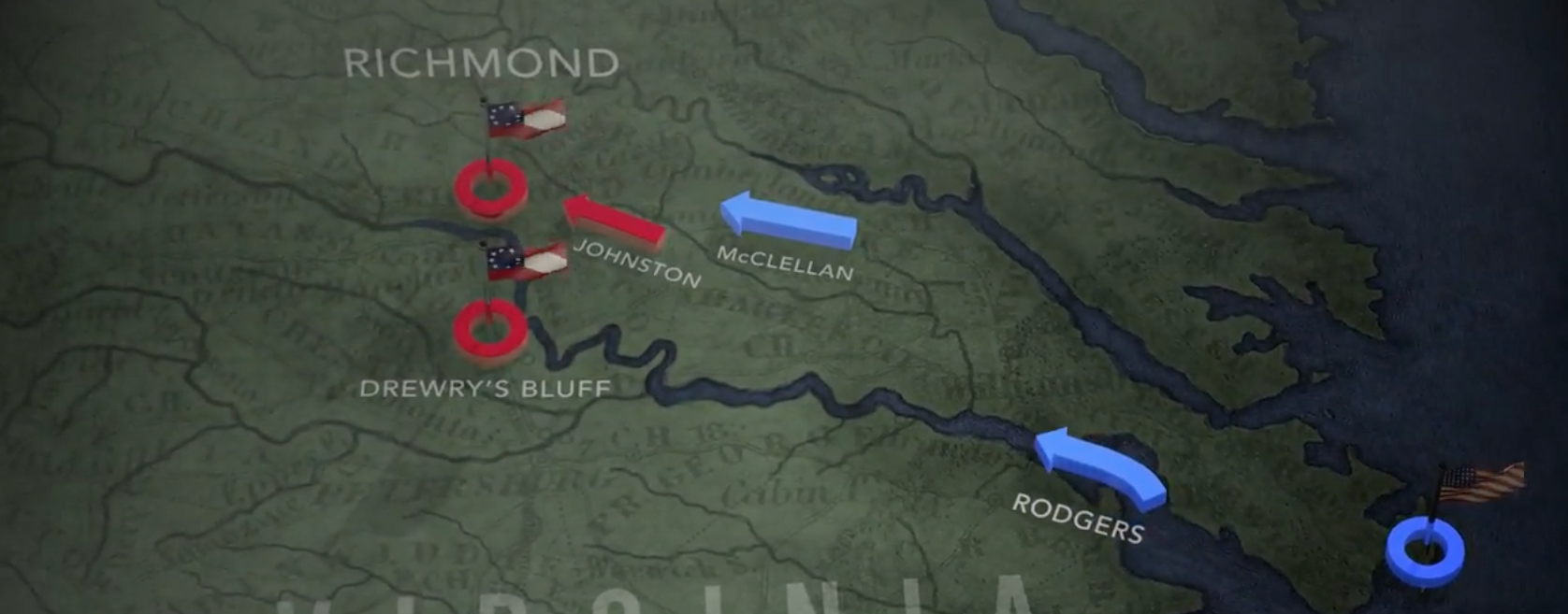 The Peninsula Campaign Animated Map | American Battlefield Trust on
