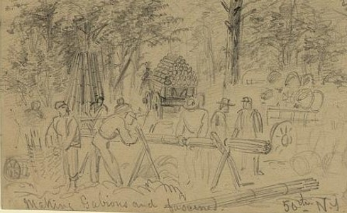 Sketch by Alfred Waud